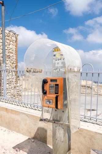 Jerusalem - Altes Telefon bei Nebi Samuel