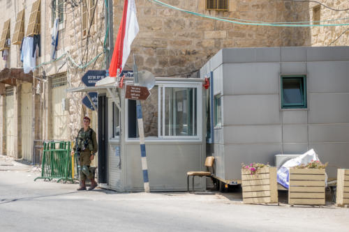 Hebron - Checkpoint an der Shuhada-Strasse
