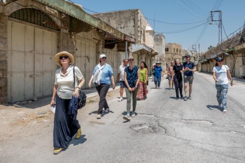 Hebron - Die Gruppe auf der Shuhada-Strasse