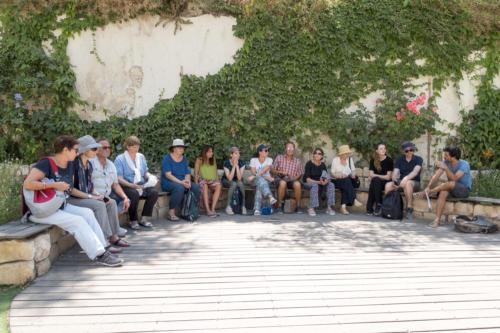 Hebron - Die Gruppe vor Beit Hadassa