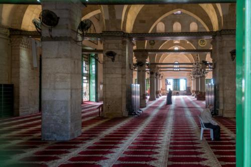 Jerusalem - Blick in die Al-Aqsa-Moschee