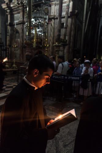 Armenischer Gottesdienst in der Grabeskirche