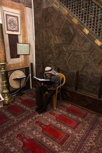 Hebron: Abraham-Moschee, vor dem Minbar