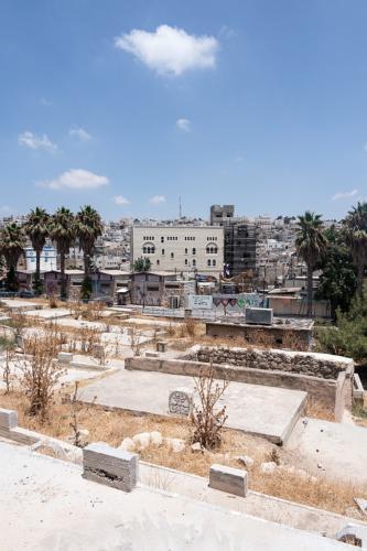 Hebron: Beit Hadassa, Blick vom islamischen Friedhof