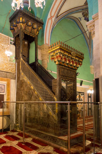 Hebron, Grab der Patriarchen, Minbar, von Saladin gestiftet