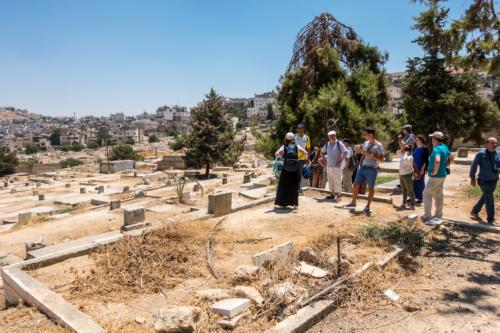 Hebron, auf dem muslimischen Friedhof