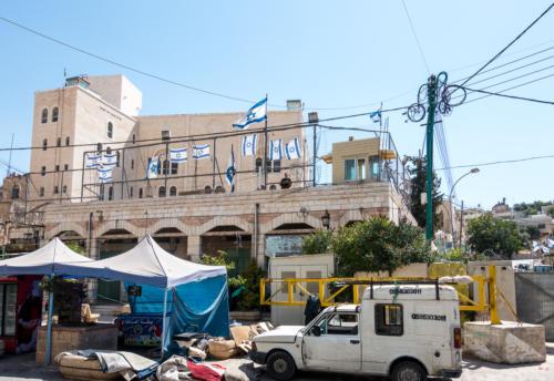 Siedlerhaus am Markt von Hebron
