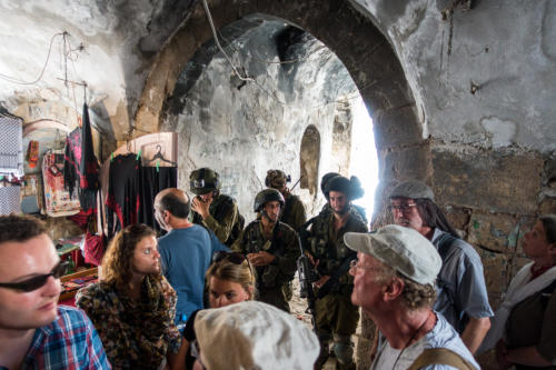 Im Markt von Hebron kurz vor der Siedler-Tour
