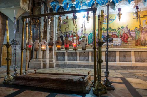 Salbungsstein in der Grabeskirche