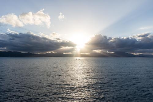 Karibischer Sonnenuntergang vor Haiti