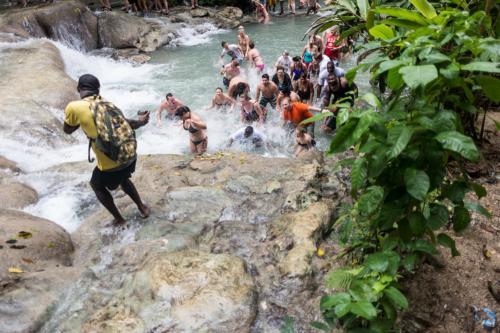 Jamaica: Spaß an den Dunn's River Wasserfällen