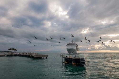 Key West: Ausfahrt der Silver Spirit (Silversea Cruises)