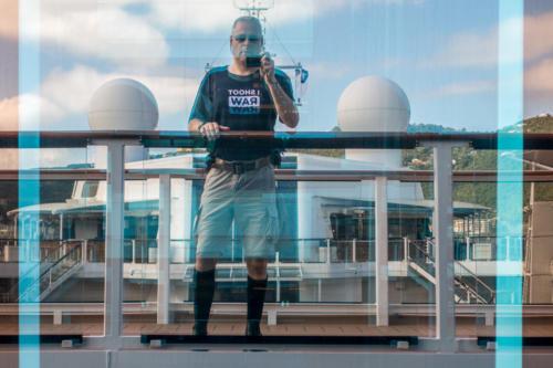 Spiegelbild des Autors auf Deck 15