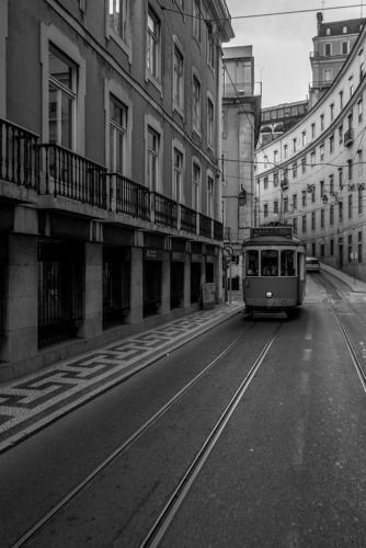 Strassenbahn Linie 28 in der Baixa