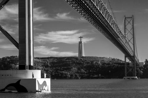 Brücke des 25. April und Statue Cristo Rei