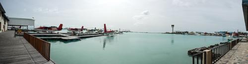 Panorama Wasserflugzeughafen auf Male