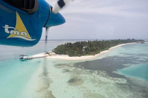 Anflug auf Medhufushi