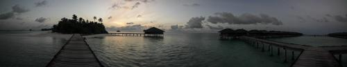 Panorama Medhufushi am Morgen