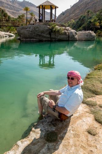 Der Autor im Wadi Bani Khalid