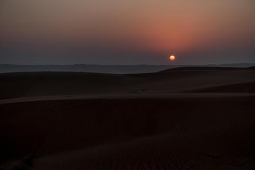 Sonnenaufgang beim Camp Sama Al Wasil