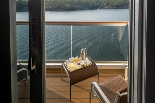 MSC Seaview, Frühstück auf dem Balkon