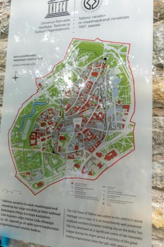 Tallinn, Plan der Altstadt