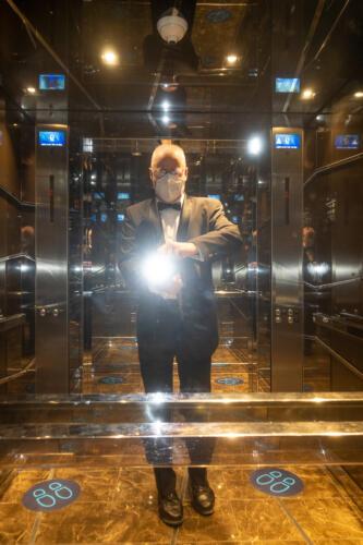 MSC Seaview, der Autor im Aufzug