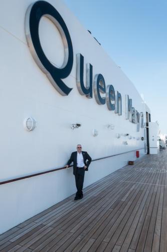 QM2 - Der Autor auf dem Sonnendeck