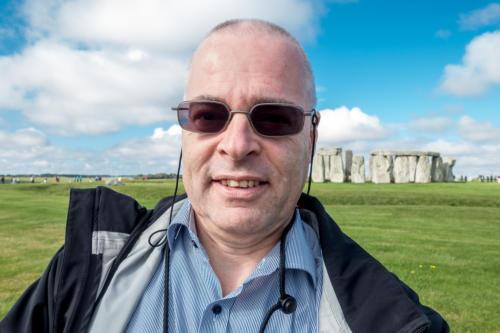 Der Autor vor Stonehenge