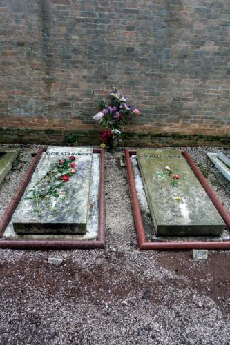 Gräber von Igor und Vera Strawinsky, Friedhofsinsel San Michele in Isola