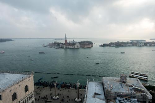Blick vom Campanile Richtung San Giorgio Maggiore