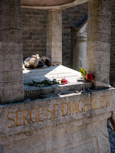 Friedhofsinsel San Michele - Grab von Sergei Djagilew
