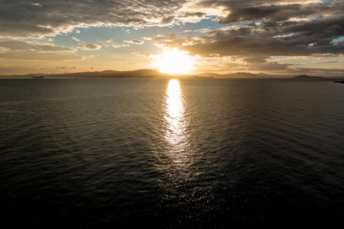 Coral Princess: Sonnenuntergang in Puntarenas