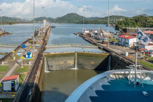 Panamakanal: In der Miraflores-Schleuse