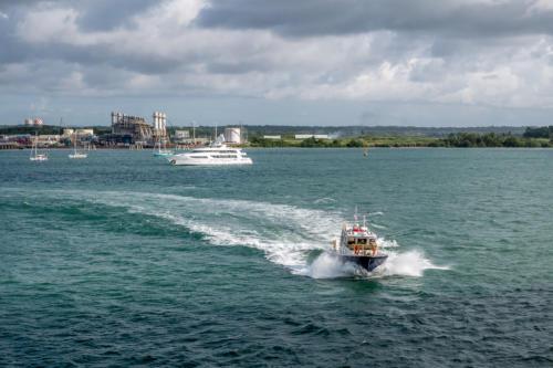 Panamakanal: Der Lotse wird abgeholt