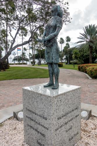 Aruba, Oranjestad: Denkmal für Anne Frank im Wilhelmina Park