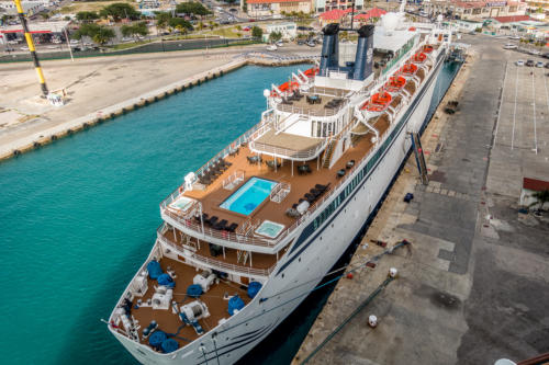 "Aruba, Oranjestad: Scientology-Schiff ""Freewinds"""